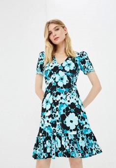 Платье, Michael Michael Kors, цвет: бирюзовый. Артикул: MI048EWAEBV7. Premium / Одежда / Платья и сарафаны