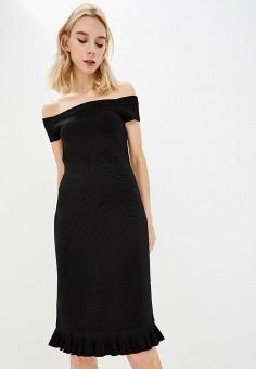 Платье, Michael Michael Kors, цвет: черный. Артикул: MI048EWBQLZ2. Premium / Одежда / Платья и сарафаны