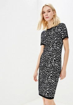 Платье, Michael Michael Kors, цвет: черный. Артикул: MI048EWBQLZ3. Premium / Одежда / Платья и сарафаны