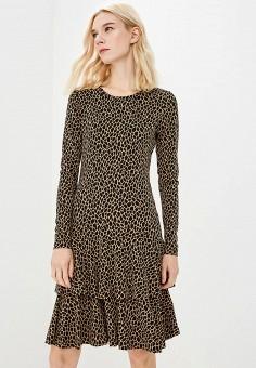 Платье, Michael Michael Kors, цвет: коричневый. Артикул: MI048EWBQLZ5. Premium / Одежда / Платья и сарафаны