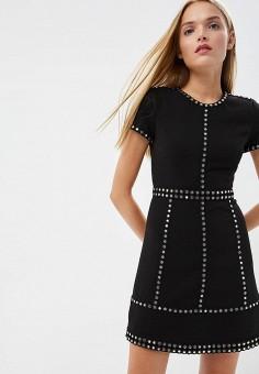 Платье, Michael Michael Kors, цвет: черный. Артикул: MI048EWBQMB6. Premium / Одежда / Платья и сарафаны