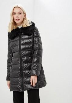 Пуховик, Michael Michael Kors, цвет: черный. Артикул: MI048EWBQMC8. Одежда / Верхняя одежда / Зимние куртки