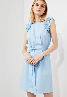 Платье, Michael Michael Kors, цвет: голубой. Артикул: MI048EWZLF67. Premium / Одежда / Платья и сарафаны