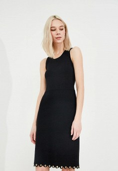Платье, Michael Michael Kors, цвет: черный. Артикул: MI048EWZLF76. Premium / Одежда / Платья и сарафаны