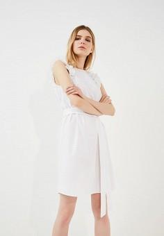 Платье, Michael Michael Kors, цвет: белый. Артикул: MI048EWZLF84. Premium / Одежда / Платья и сарафаны