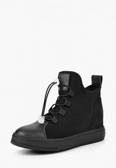 Кеды на танкетке, Mixfeel, цвет: черный. Артикул: MI053AWBYEE1. Обувь