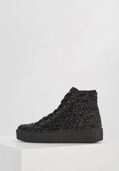 Кеды, MM6 Maison Margiela, цвет: черный. Артикул: MM004AWZLZ54. Обувь / Кроссовки и кеды / Кеды