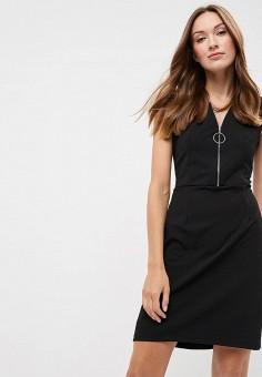 Платье, Morgan, цвет: черный. Артикул: MO012EWBMVE5. Одежда / Платья и сарафаны