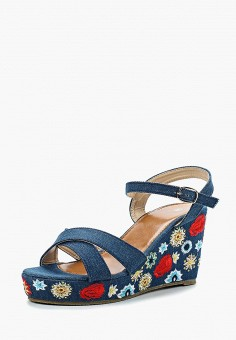 Босоножки, Modis, цвет: синий. Артикул: MO044AWBKHA7. Обувь / Босоножки