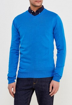 Пуловер, Modis, цвет: синий. Артикул: MO044EMALHM1. Одежда / Джемперы, свитеры и кардиганы
