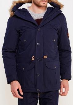Куртка утепленная, Modis, цвет: синий. Артикул: MO044EMWYW24. Одежда / Верхняя одежда / Пуховики и зимние куртки