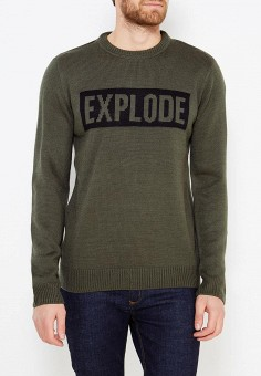 Джемпер, Modis, цвет: хаки. Артикул: MO044EMXWU23. Одежда / Джемперы, свитеры и кардиганы