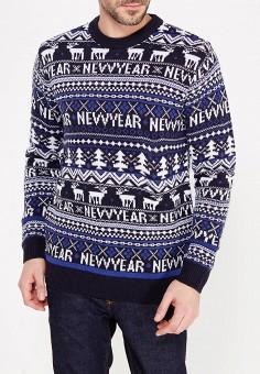 Джемпер, Modis, цвет: синий. Артикул: MO044EMYPL37. Одежда / Джемперы, свитеры и кардиганы