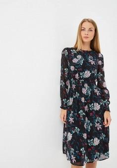 Платье, Modis, цвет: черный. Артикул: MO044EWCBSU5. Одежда / Платья и сарафаны