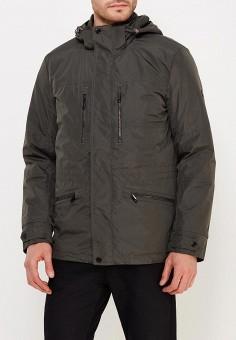 Пуховик, Finn Flare, цвет: хаки. Артикул: MP002XM0W44Z. Одежда / Верхняя одежда / Демисезонные куртки