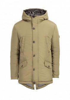 Куртка утепленная, Finn Flare, цвет: зеленый. Артикул: MP002XM0WBIL. Одежда / Верхняя одежда / Пуховики и зимние куртки