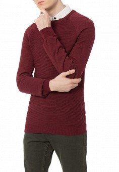 Джемпер, LC Waikiki, цвет: бордовый. Артикул: MP002XM0YE7E. Одежда / Джемперы, свитеры и кардиганы