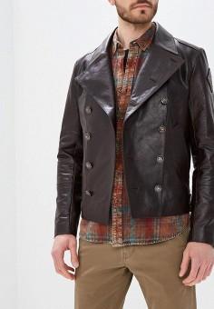 Куртка кожаная, Bos Bison, цвет: коричневый. Артикул: MP002XM0YG4H. Одежда / Верхняя одежда / Кожаные куртки