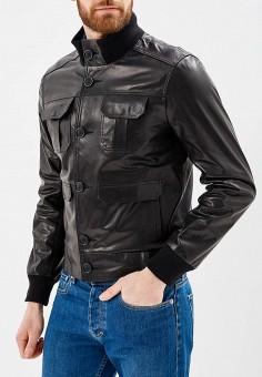 Куртка, Grafinia, цвет: черный. Артикул: MP002XM0YG6H. Одежда / Верхняя одежда / Кожаные куртки