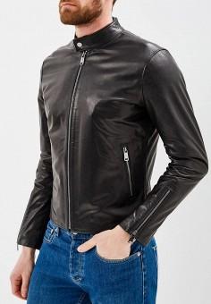 Куртка кожаная, Grafinia, цвет: черный. Артикул: MP002XM0YGCB. Одежда / Верхняя одежда / Кожаные куртки