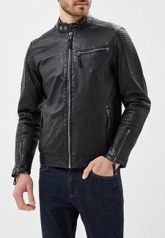 Куртка кожаная, Blue Monkey, цвет: черный. Артикул: MP002XM0YH2I. Одежда / Верхняя одежда / Кожаные куртки
