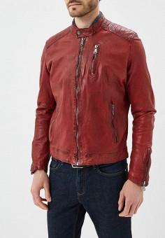 Куртка кожаная, Blue Monkey, цвет: красный. Артикул: MP002XM0YH2K. Одежда / Верхняя одежда / Кожаные куртки