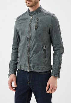 Куртка кожаная, Blue Monkey, цвет: серый. Артикул: MP002XM0YH2N. Одежда / Верхняя одежда / Кожаные куртки