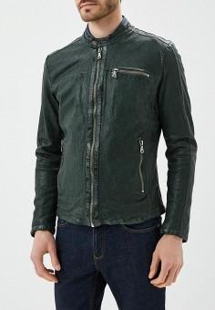 Куртка кожаная, Blue Monkey, цвет: зеленый. Артикул: MP002XM0YH2R. Одежда / Верхняя одежда / Кожаные куртки