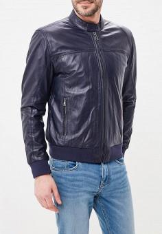 Куртка кожаная, Al Franco, цвет: синий. Артикул: MP002XM0YI6Q. Одежда / Верхняя одежда / Кожаные куртки