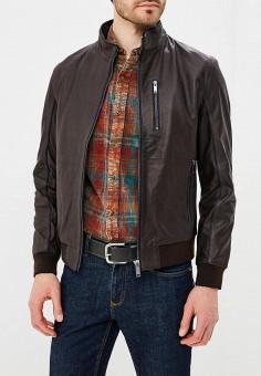 Куртка кожаная, Urban Fashion for Men, цвет: коричневый. Артикул: MP002XM0YI6R. Одежда / Верхняя одежда / Кожаные куртки