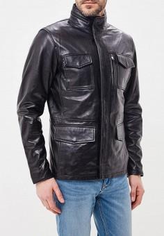Куртка кожаная, Jorg Weber, цвет: черный. Артикул: MP002XM0YI6T. Одежда / Верхняя одежда / Кожаные куртки