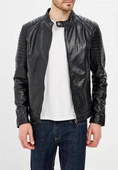 Куртка кожаная, Urban Fashion for Men, цвет: черный. Артикул: MP002XM0YI6Z. Одежда / Верхняя одежда / Кожаные куртки