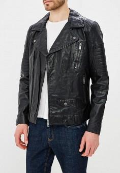 Куртка кожаная, Urban Fashion for Men, цвет: черный. Артикул: MP002XM0YI70. Одежда / Верхняя одежда / Кожаные куртки