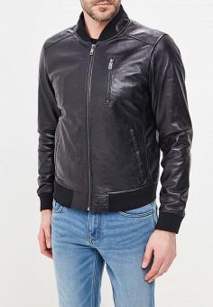 Куртка кожаная, Jorg Weber, цвет: черный. Артикул: MP002XM0YI71. Одежда / Верхняя одежда / Кожаные куртки