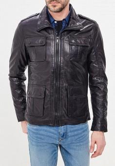 Куртка кожаная, Urban Fashion for Men, цвет: черный. Артикул: MP002XM0YI74. Одежда / Верхняя одежда / Кожаные куртки