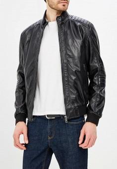 Куртка кожаная, Urban Fashion for Men, цвет: черный. Артикул: MP002XM0YI75. Одежда / Верхняя одежда / Кожаные куртки