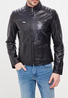 Куртка кожаная, Urban Fashion for Men, цвет: черный. Артикул: MP002XM0YI77. Одежда / Верхняя одежда / Кожаные куртки