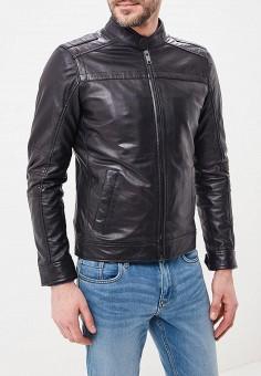 Куртка кожаная, Urban Fashion for Men, цвет: черный. Артикул: MP002XM0YI78. Одежда / Верхняя одежда / Кожаные куртки