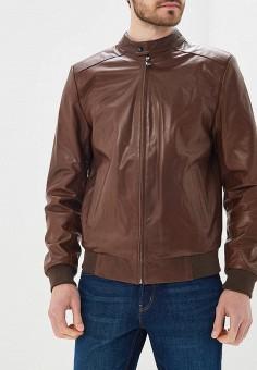 Куртка кожаная, Grafinia, цвет: коричневый. Артикул: MP002XM0YJB9. Одежда / Верхняя одежда / Кожаные куртки
