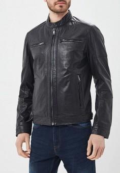 Куртка кожаная, Urban Fashion for Men, цвет: черный. Артикул: MP002XM0YJEU. Одежда / Верхняя одежда / Кожаные куртки