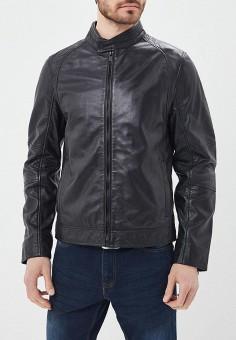 Куртка кожаная, Urban Fashion for Men, цвет: черный. Артикул: MP002XM0YJEW. Одежда / Верхняя одежда / Кожаные куртки