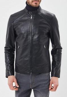 Куртка кожаная, Urban Fashion for Men, цвет: черный. Артикул: MP002XM0YJEX. Одежда / Верхняя одежда / Кожаные куртки