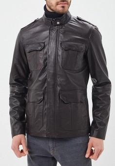 Куртка кожаная, Urban Fashion for Men, цвет: коричневый. Артикул: MP002XM0YJEY. Одежда / Верхняя одежда / Кожаные куртки