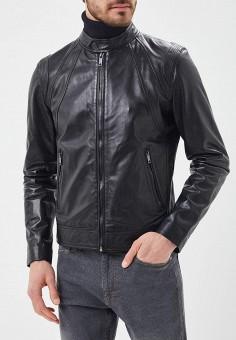 Куртка кожаная, Urban Fashion for Men, цвет: черный. Артикул: MP002XM0YJEZ. Одежда / Верхняя одежда / Кожаные куртки