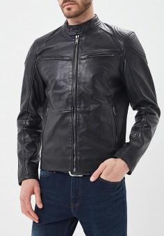 Куртка кожаная, Urban Fashion for Men, цвет: черный. Артикул: MP002XM0YJF2. Одежда / Верхняя одежда / Кожаные куртки