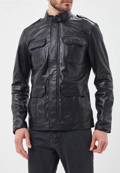 Куртка кожаная, Urban Fashion for Men, цвет: черный. Артикул: MP002XM0YJF3. Одежда / Верхняя одежда / Кожаные куртки