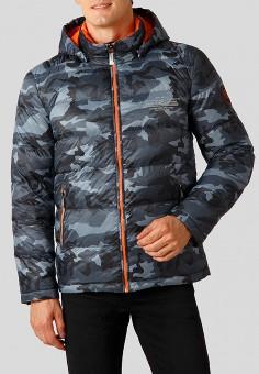 Пуховик, Finn Flare, цвет: серый. Артикул: MP002XM23TPY. Одежда / Верхняя одежда / Пуховики и зимние куртки