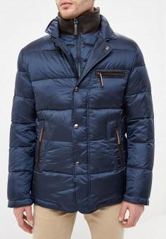 Пуховик, Al Franco, цвет: синий. Артикул: MP002XM23VF0. Одежда / Верхняя одежда / Пуховики и зимние куртки