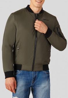 Куртка утепленная, Finn Flare, цвет: хаки. Артикул: MP002XM23VV4. Одежда / Верхняя одежда / Пуховики и зимние куртки