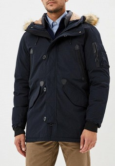 Парка, Winterra, цвет: синий. Артикул: MP002XM23VYG. Одежда / Верхняя одежда / Пуховики и зимние куртки